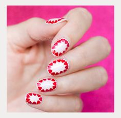 If you like simple, chic nail designs, you'll enjoy this easy Valentine's Day nail art tutorial! It's very easy to do with. Chic Nail Designs, Valentine's Day Nail Designs, Easy Nail Art, Cool Nail Art, Holiday Nails, Christmas Nails, Valentine Nail Art, Valentines, Chic Nails