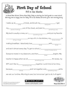 Finish the Story Summer Activity: Writing Skills free printables The post Finish the Story appeared first on School Diy. First Day Of School Activities, 1st Day Of School, Beginning Of The School Year, Summer School, School Fun, School Days, Middle School, Summer Activities, High School