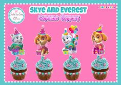 Skye and Everest Cupcake Toppers - PartyVille