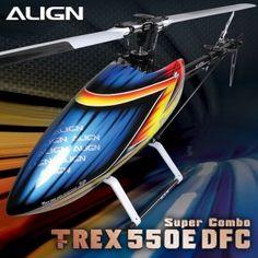 Align Trex 550E DFC RC Helicopter Super Combo
