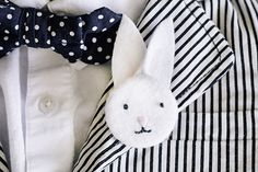 The cutest bunny pins & Bows! Handmade Mood | Bunny Boutonnieres and Bows | http://handmademood.com