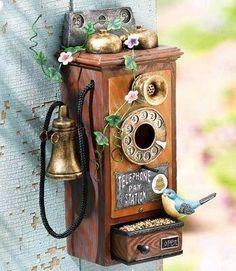 Telephone Bird Feeder