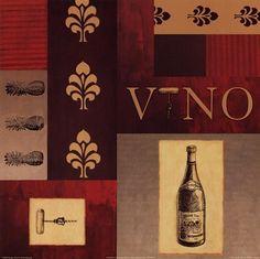 vino art for kitchen