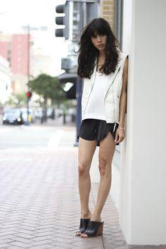 H&M Vest, Zara Heels