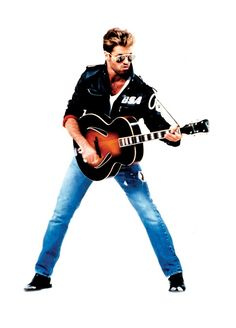 George Michael in Faith outfit