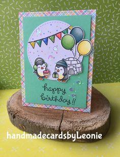 Birthdaycard for Keano #lawnfawn #snowcool #partyanimals #spectrumnoirmarkers