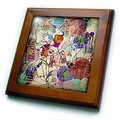 Abstract Expressionism 1 - graphic design in the style of Abstract Expressionism - 8x8 Framed Tile by 3dRose. $22.99. Abstract Expressionism 1 - graphic design in the style of Abstract Expressionism Framed Tile is measuring 8w x 8h x .75d. Made of solid wood with predrilled keyhole for easy wall mounting. Framed tile comes with 6w x 6h ceramic gloss tile attached to the wood frame.
