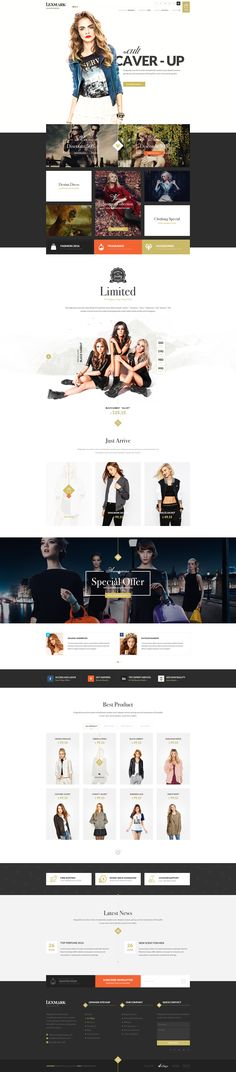 check all page here : http://themeforest.net/item/lexmark-ecommerce-psd-template/14449903?s_phrase=&s_rank=1