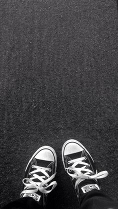 background, black and white, grunge, hipster, iphone, popular, shoes, street, tumblr, wallpaper, weheartit, ​converse