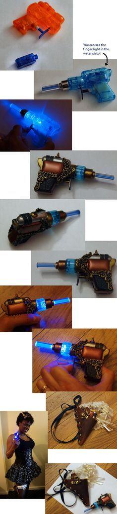 Tuto (grandes lignes seulement) pour un pistolet steampunk plutôt sympa.