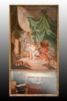 Trumeau XVIIIème Miroir Au Mercure