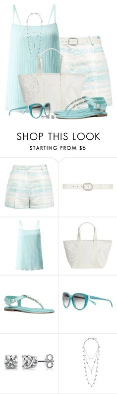 """Pleated Shorts & Cami"" by brendariley-1 ❤ liked on Polyvore featuring Gyunel, Dorothy Perkins, Miss Selfridge, Tory Burch, ALDO, Tiffany & Co., BERRICLE and Lucky Brand"