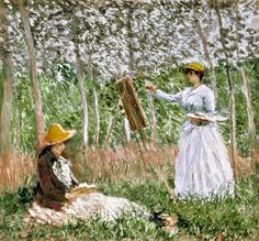 A lot of people do not care for Claude Monet...but I love them. They tell us stories of what it was like during that time period. The use of color is amazing.