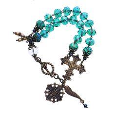Vintage Blues Rosary Bracelet