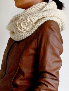 Crochet Cowl Scarf - Click image to find more  Pinterest pins