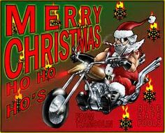 christmas biker artwork bing images