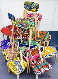 Wax Going on, les chaises tendances by Sandrine Alouf