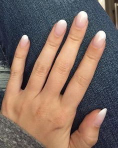 Ombré nails. White tip. French manicure