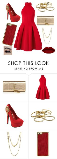 """""""Untitled #706"""" by tokyoghoul1 ❤ liked on Polyvore featuring Yves Saint Laurent, Miss Selfridge, Red Circle, Kendra Scott, Marco Bicego, women's clothing, women, female, woman and misses"""
