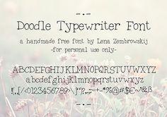 Doodle Typewriter free font by Lena Zembrowskij, via Behance