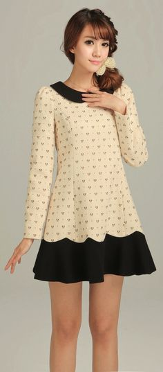 Bow pattern dress