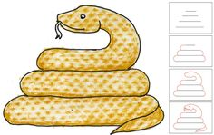 Year of the Snake- Art Projects for Kids: Draw a Snake with Texture Texture Art Projects, Cool Art Projects, Drawing Projects, Drawing Lessons, Projects For Kids, School Projects, Project Ideas, Teaching Drawing, Teaching Art