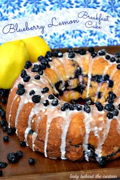 Blueberry Lemon Breakfast Cake - Lady Behind The Curtain