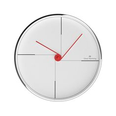 Chrome Wall Clock // W30059W  By Oliver Hemming