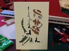 mini carte découpée main Illustration, Ethnic, Creations, Concept, Mini, Brittany, Atelier, Greeting Card, Illustrations