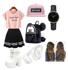 """School Outfit"" by puposa on Polyvore featuring art"