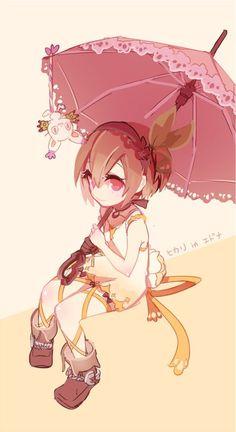 Kari con paraguas.