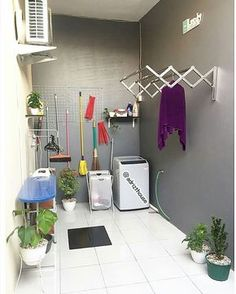 Inspirasi laundry room by semoga menginspirasi 🏡 Laundry Room Decor, Outdoor Laundry Rooms, House Design, Home Room Design, Home Furniture, House Interior Decor, Home Design Plans, Room Decor, Home Decor Furniture