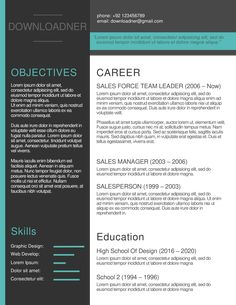 Pick one of our free modern resume templates when applying for a modern job opening. They are available for instant download and entirely editable download free example of a modern resume Modern Resume Template, Resume Templates, Team Leader, Job Opening, Printable Worksheets, Pick One, Lorem Ipsum, How To Apply, Lettering