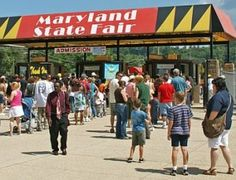 Maryland state fair in lutherville crowd and carnival
