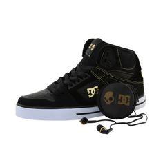 80f58bf1b0e9 Men s DC Spartan Hi (Black White) - skullcandy collaboration shoe feat.  padded tongue