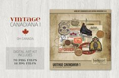 Vintage Canadiana 1 by Lucky Girl Creative on @creativemarket
