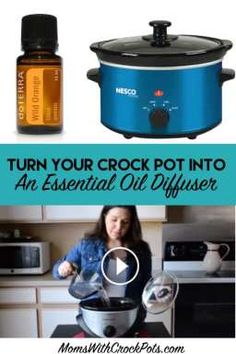 Get double use out of your crock pot. Learn how to turn your crock pot into an essential oil diffuser!