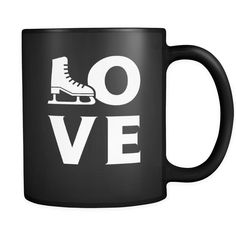 Ice skating - LOVE Ice skating - 11oz Black Mug