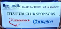 Sponsorship banner with grommets Small Business Solutions, Canadian Tire, Trade Show, Foundation, Banner, Health, Banner Stands, Health Care, Banners