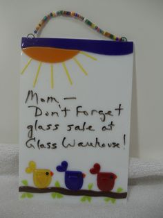 Create a dry erase board out of glass.use dark blue sky to hide wire - good idea :)