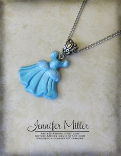Cinderella's Ball Gown Pendant by ArteDiAmore on Etsy, $20.00