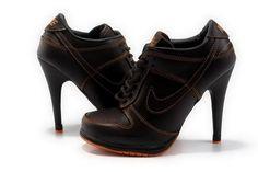 Nike Dunk Sb Heels In Brown And Orange Low Women Shoes