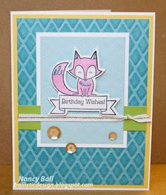 Nancy's CRAFTY blog: The frog and the fox!
