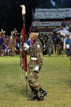 Frank Squirrel, U.S. Army Korean War veteran and member of the Cherokee Nation Color Guard.....♥