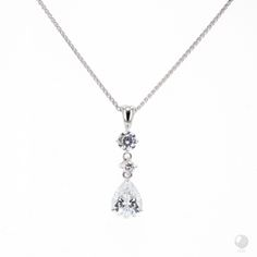 """FERI - Purity of Heart - Pendant - Exclusive FERI 950 Siledium silver - Exclusive dual natural rhodium and palladium plating - Set with exclusive FERI Swan cut lab stones - Colour: white - Dimension: 26mm x 7mm (1"""" x 0.3"""")  *Chain sold separately*  Invest with confidence in FERI Designer Lines.  www.gwtcorp.com/ghem or email fashionforghem.com for big discount"""