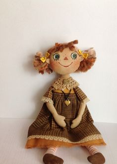 cloth doll Art doll  OOAK doll  Textile Collecting doll Stuff  doll Fabric folk…