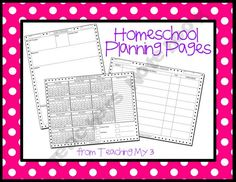 freebie planning pages- teachingmy3 Shop - homeschool-curriculum-amp-unit-planner | Teachers Notebook