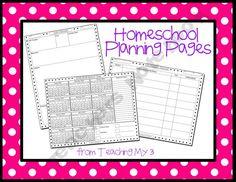 freebie planning pages- teachingmy3 Shop - homeschool-curriculum-amp-unit-planner | Teachers Notebook