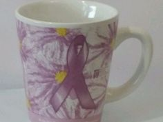 NICE BREAST CANCER AWARENESS RIBBON COFFEE CUP, MUG. Dishwasher safe #Unbranded