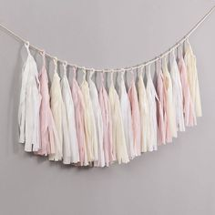 I've just found Elegance Handcut Tassel Garland. Our gorgeous 'Elegance' tassel garland comes with 18 hand-cut tassels on approximately 6 foot of Twine with a foot each end for hanging.. £25.00